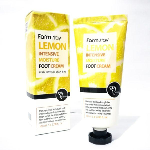Крем для ног (с лимоном) FarmStay Lemon Intensive Moisture Foot Cream, 100мл