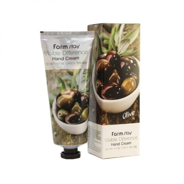 Крем для рук Олива Farmstay Visible Difference Hand Cream Olive, 100 мл (2)