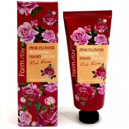Крем для рук Розовая роза FarmStay PINK FLOWER BLOOMING Hand Cream PINK ROSE, 100мл