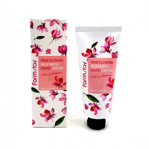 Крем для рук Цветение Вишни FarmStay PINK FLOWER BLOOMING Hand Cream CHERRY BLOSSOM, 100мл